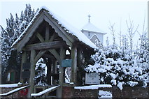 SU5846 : All Saints Dummer Lychgate in Snow by Michael Hill-King