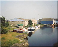 SE3032 : Leeds Clarence Dock in 1991 by Robin Mais