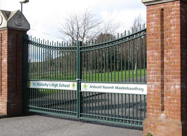 The Gates Of St Malachy S High School At 169 Eric Jones