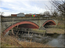 SD7909 : Warth Bridge, River Irwell by David Dixon