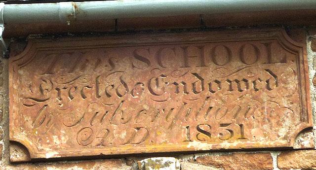 Stone inscription, old school, King's Meaburn