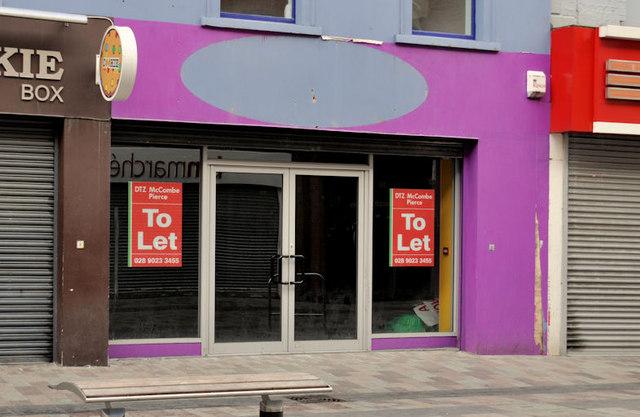 Vacant shop, Belfast (1)