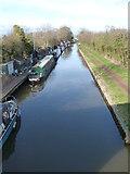 SO9262 : Worcester & Birmingham Canal - view north from Coffin Bridge by Chris Allen