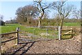 SZ2295 : New Fencing and Gate at Walkford Farm by Mike Smith