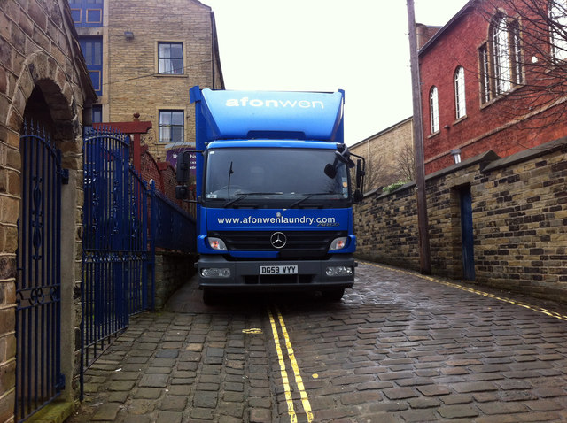 Delivering laundry to the Imperial Crown Hotel, Halifax