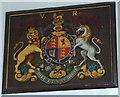 NY6323 : Royal coat of arms, All Saints Church, Bolton by Karl and Ali