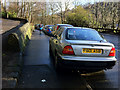 SD9926 : Pavement parking on Burnley Road, Hebden Bridge  by Phil Champion