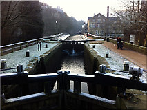 SD9927 : Black Pit Lock, Rochdale Canal at Hebden Bridge by Phil Champion
