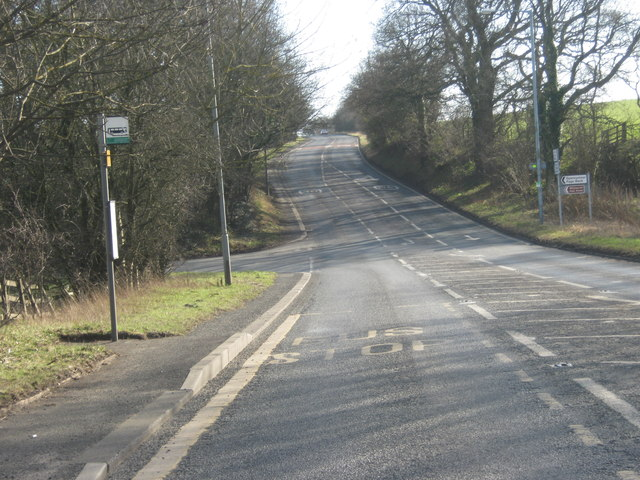 The A690 junction with Whitworth Lane