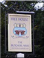 TM4360 : The Butchers Arms Public House sign by Adrian Cable
