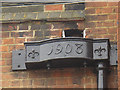 TQ3378 : St Christopher's, Walworth - rain hopper by Stephen Craven