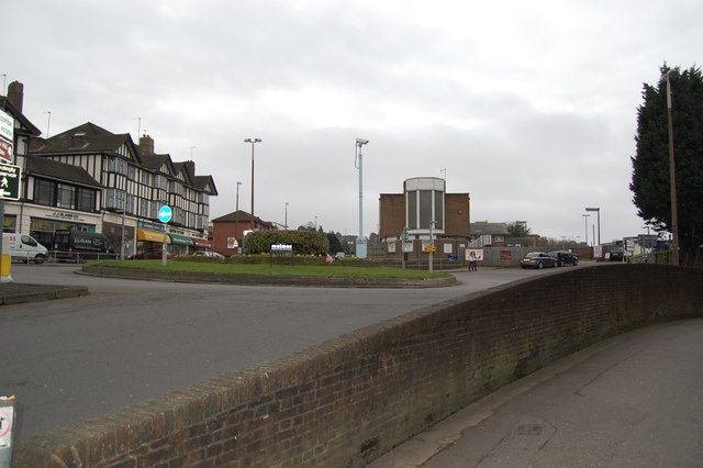 Roundabout and shops, Haywards Heath