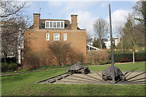 TQ2479 : Gnomon and tortoises of sundial in Holland Park by Roger Templeman