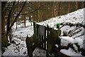 SE0025 : Gate on footpath through Martin Wood, Mytholmroyd by Phil Champion
