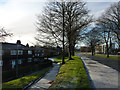 SJ8293 : 1920s council housing and Mauldeth Road West, Hough End, Chorlton by Phil Champion