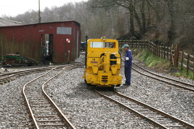 Apedale Valley Light Railway - the yellow Simplex