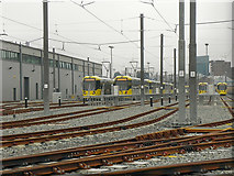 SJ8195 : Metrolink, South Manchester Depot, Old Trafford by David Dixon