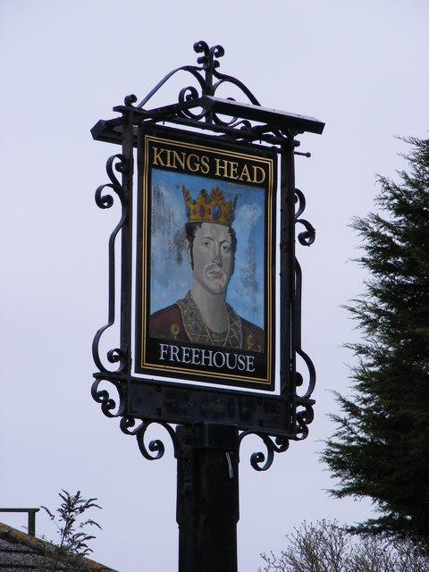 The Kings Head Public House sign