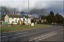 SK1576 : Staggered crossroads by the Anchor Inn by Bill Boaden