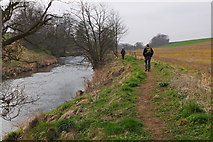 NT5675 : A new path by the River Tyne, East Lothian by Jim Barton