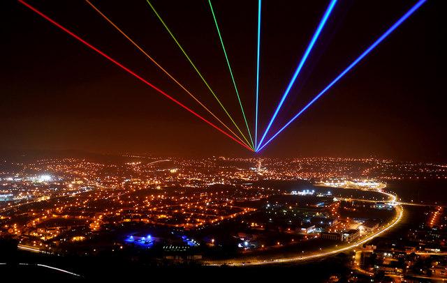'Global Rainbow', Newtownards © Rossographer :: Geograph ... Rainbow Northern Lights