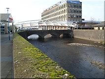 SS7690 : Canopied High Street bridge, Port Talbot by Jaggery
