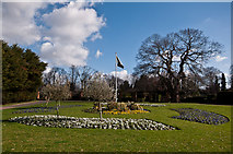 TQ4666 : Floral display, Priory Gardens by Ian Capper