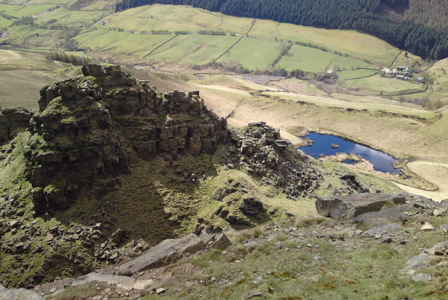 Towering over The Tower, Alport Castles, Derbyshire