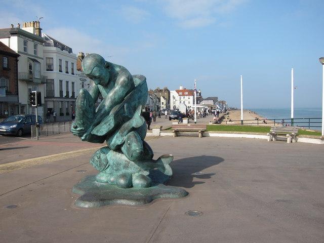 Sculpture outside Deal Pier entrance