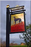 SO8690 : The Greyhound (2) - sign, High Street, Swindon, Staffs by P L Chadwick