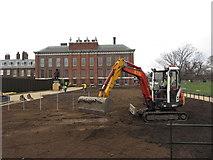 TQ2579 : Landscaping at Kensington Palace by Gareth James
