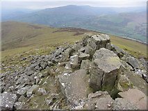 SO2718 : View west from Sugar Loaf summit by Gareth James