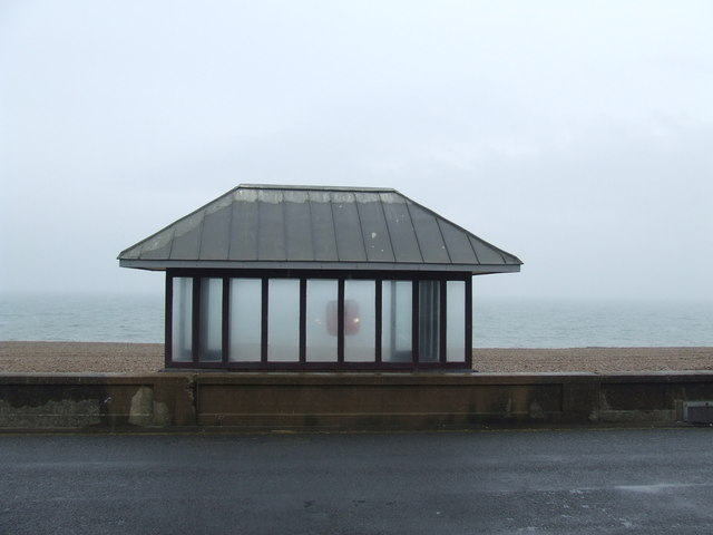 Shelter on the seafront, Seaford