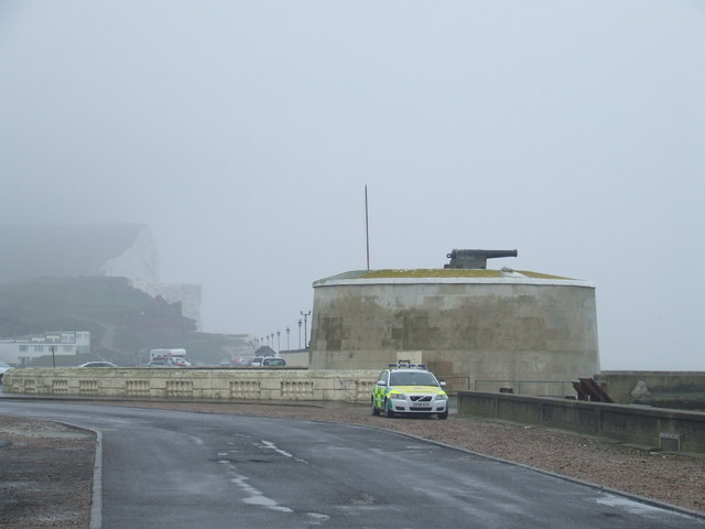 Martello Tower and cliffs, Seaford