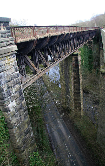 One of the two disused viaducts at Miller's dale.