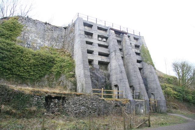 East Buxton lime kilns.
