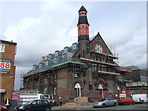 SJ3588 : Church being converted to flats, High Park Street by JThomas