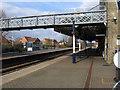 TF2422 : Spalding - Station Platform No 2 and footbridge by Dave Bevis