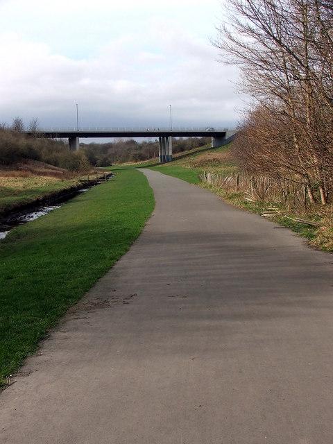 View towards Burn Closes Bridge