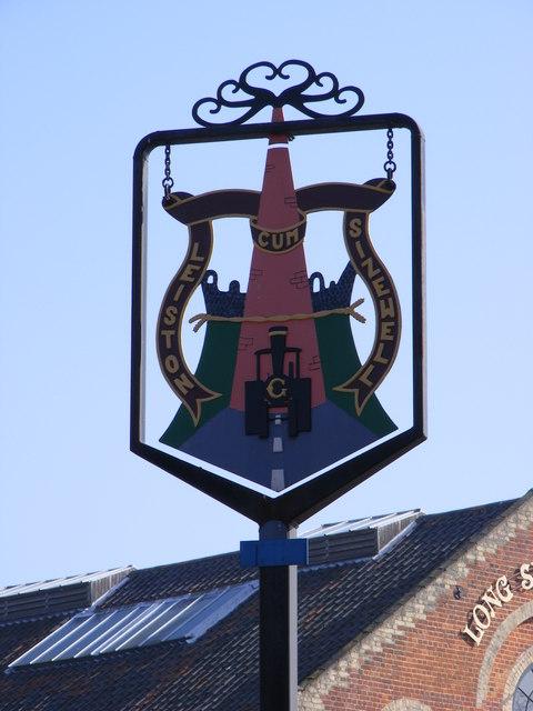 Leiston Cum Sizewell Town sign
