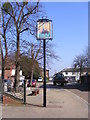 TM4462 : B1122 Main Street & the Engineers Arms Public House sign by Adrian Cable