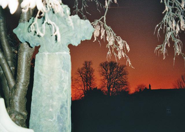 Sunset - Whalley Church Yard