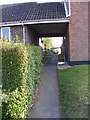 TM3877 : Footpath to Rectory Green by Geographer