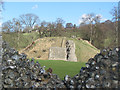 SP9908 : The Motte looking across the Inner Ward by Chris Reynolds
