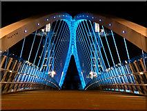 SJ8097 : The Lowry Bridge, Salford Quays by David Dixon