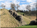 SP9908 : Wing Wall from site of Derne Gate, Berkhamsted Castle by Chris Reynolds