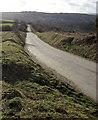 SX5269 : Road across Knowle Down by Derek Harper