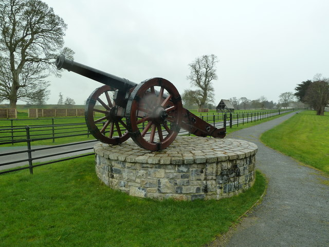 Cannon at the entrance and drive to Oldbridge