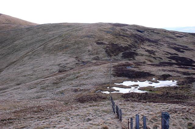 South ridge of Creag an Dubh Shluic