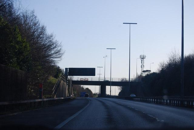 A27 bridge over the M27